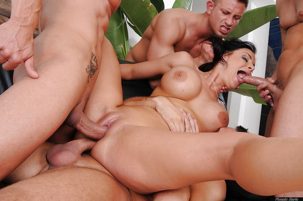 Big titted brunette group fucking clips