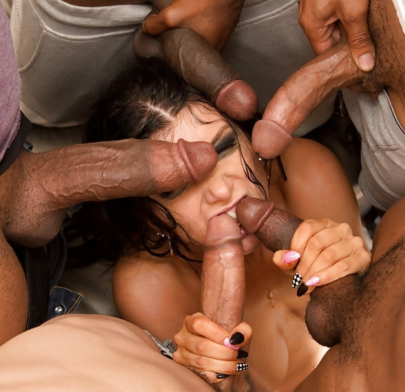Whore Surrounded By Cock Morazzia 1