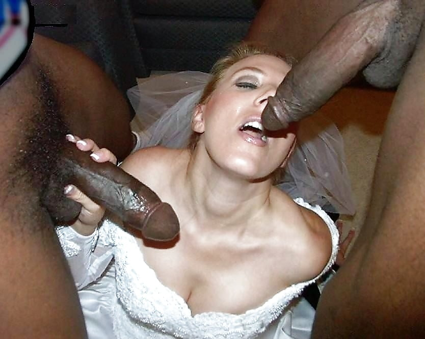Black dude fuck newly wed white bride and her maid of honor on wedding day