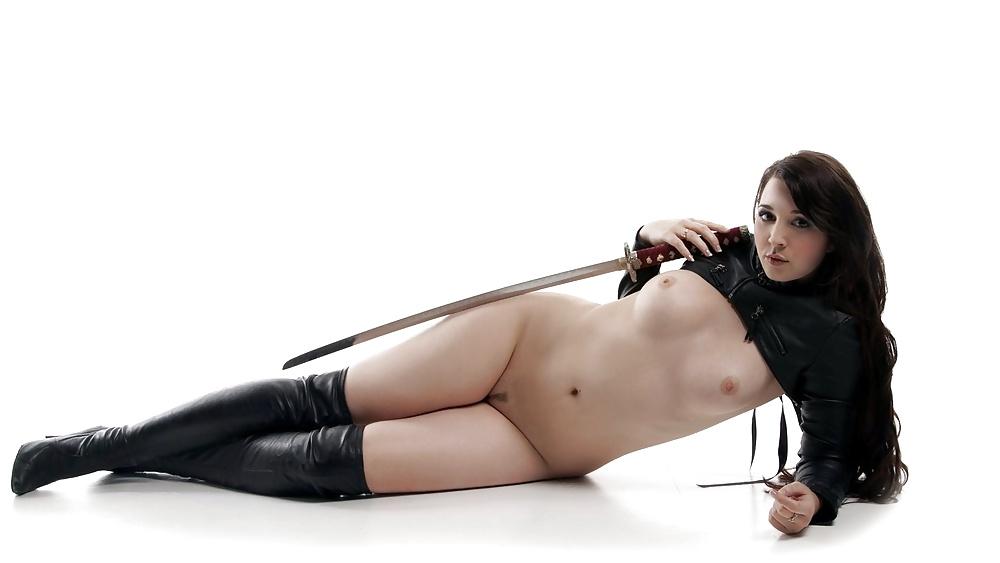 Nude girls with swords