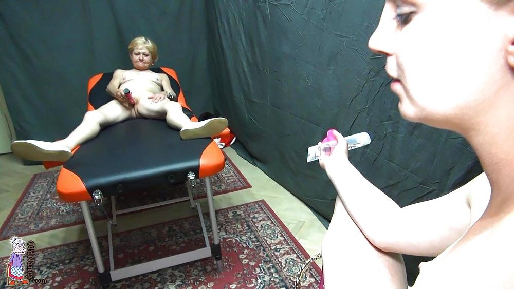 Girl on girl using dildo