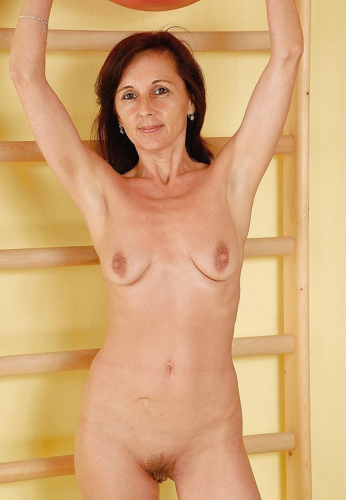 Skinny nude mature women