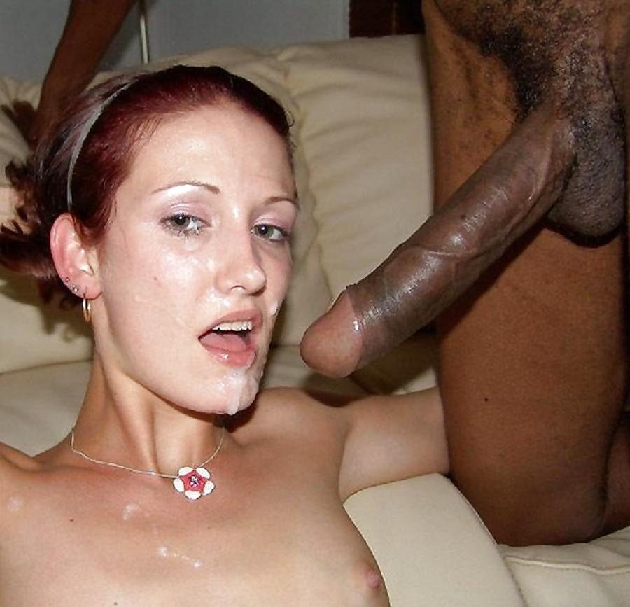 Amateur facial interracial