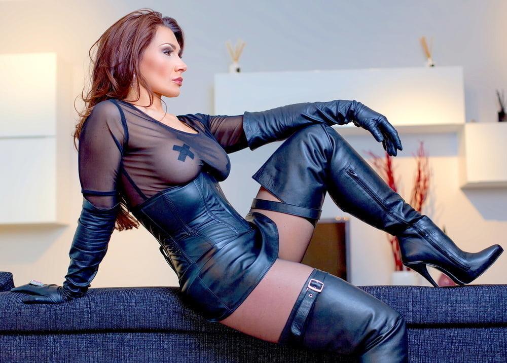 Girls boots bondage