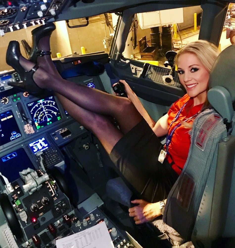 Shop plane stewardess