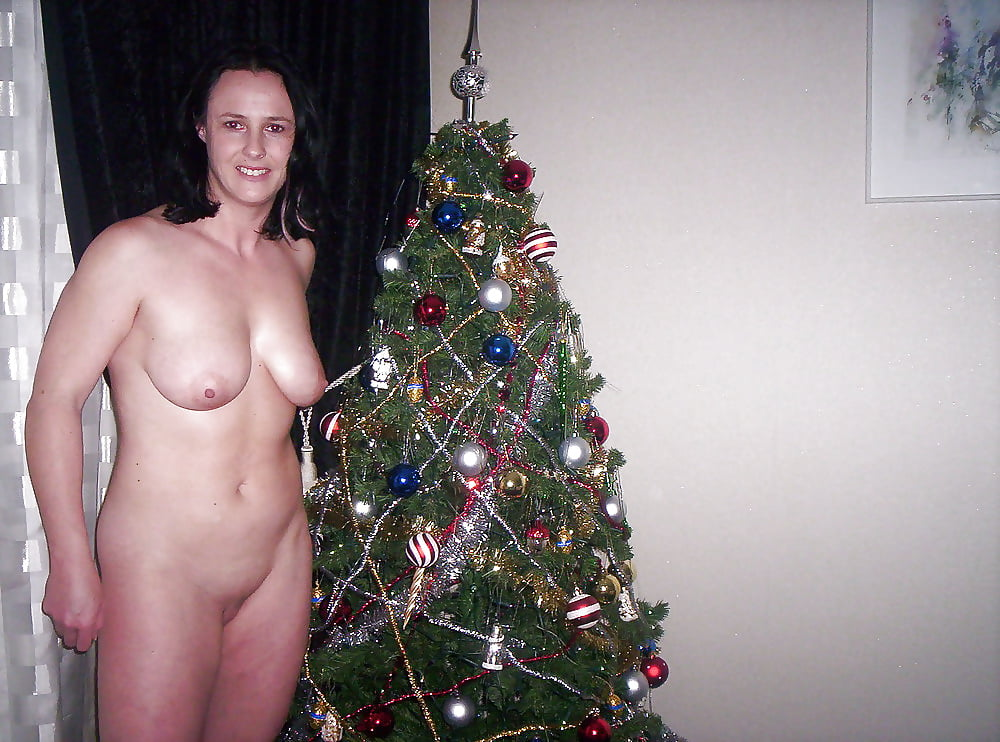 Chubby Brunette Is Naked For Christmas