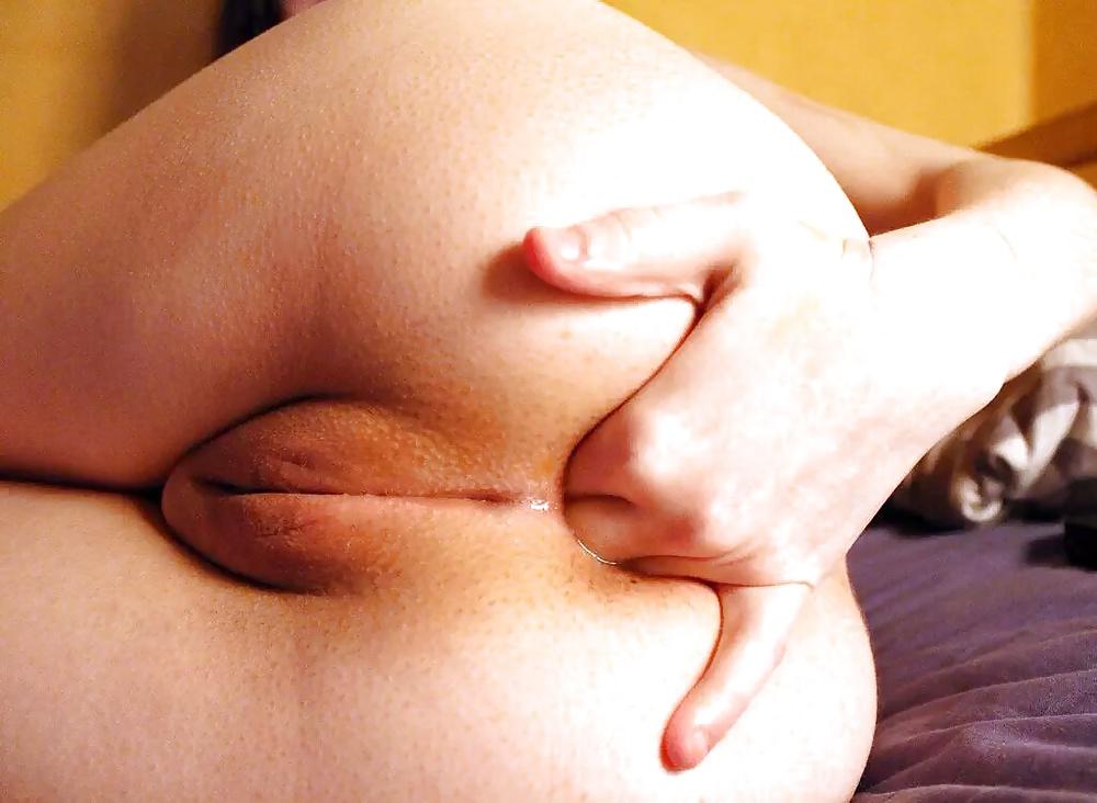 Multiple naked bent over fingering