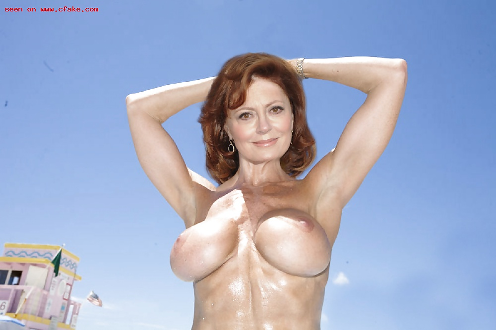 Susan sarandon loves her cleavage and isn't afraid to flaunt it