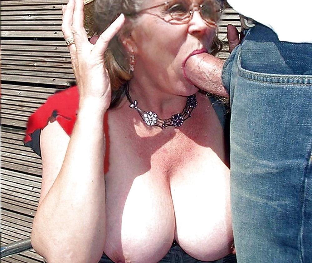 Huge tits granny fucking