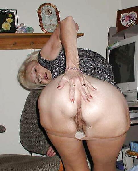 Black granny ass spread