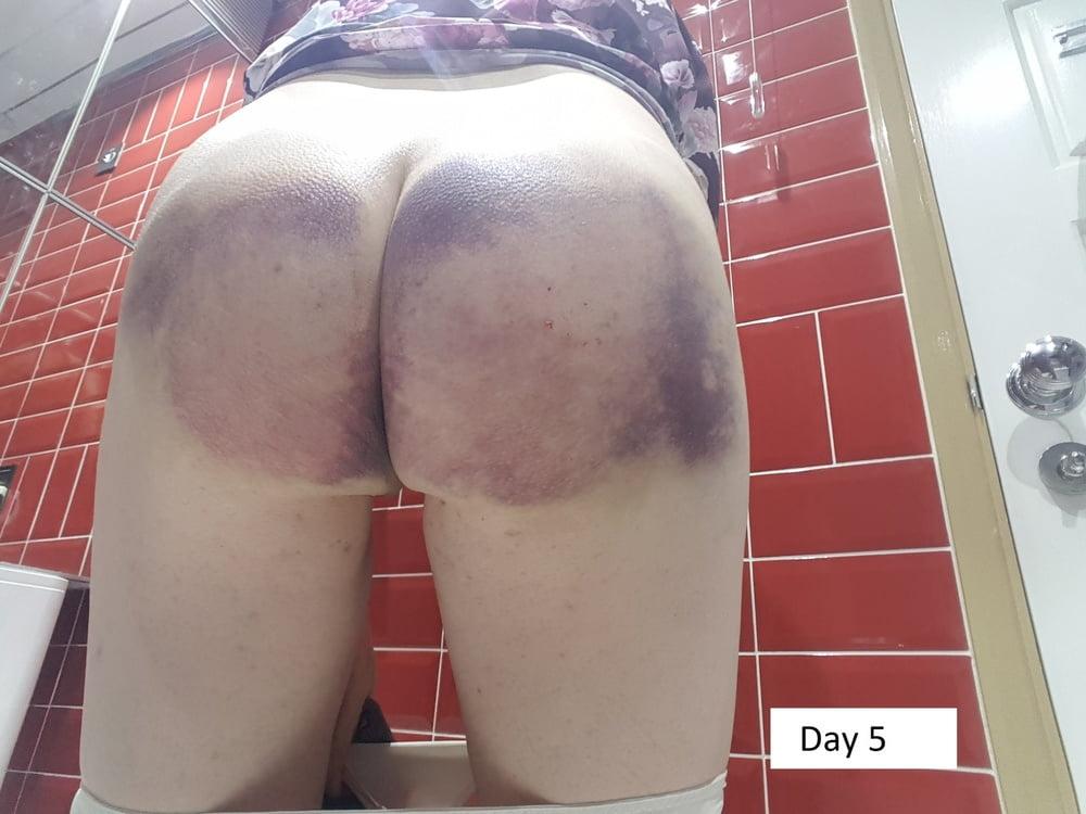 Femdom wife spanking