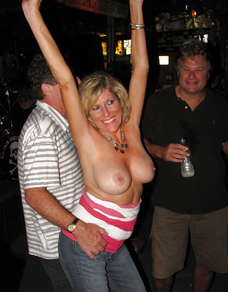 Woman grab boobs drunk girls granny