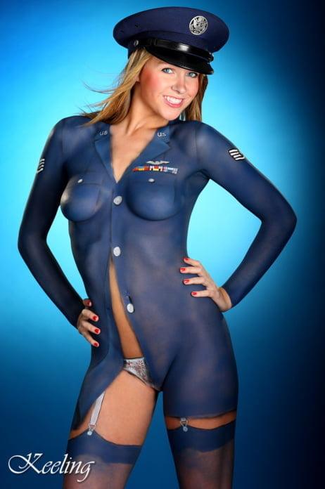 Nude original art erotic pinup fantasy female cheerleader blonde drawing uniform