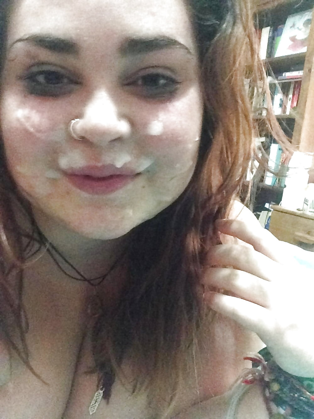 cumshot facial woman Selfie