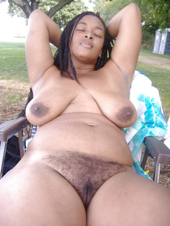 Natural Hairy African BBW