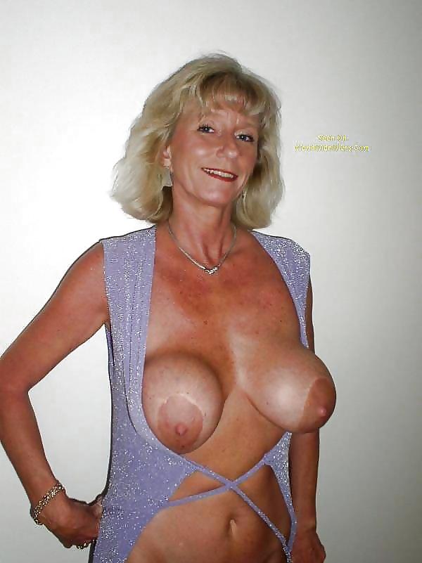 Fake tits granny
