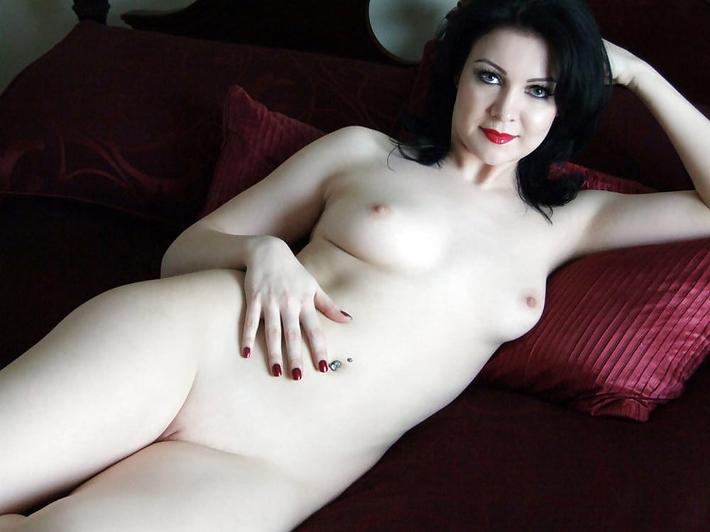 Milky white skin of this beautiful nude woman photos
