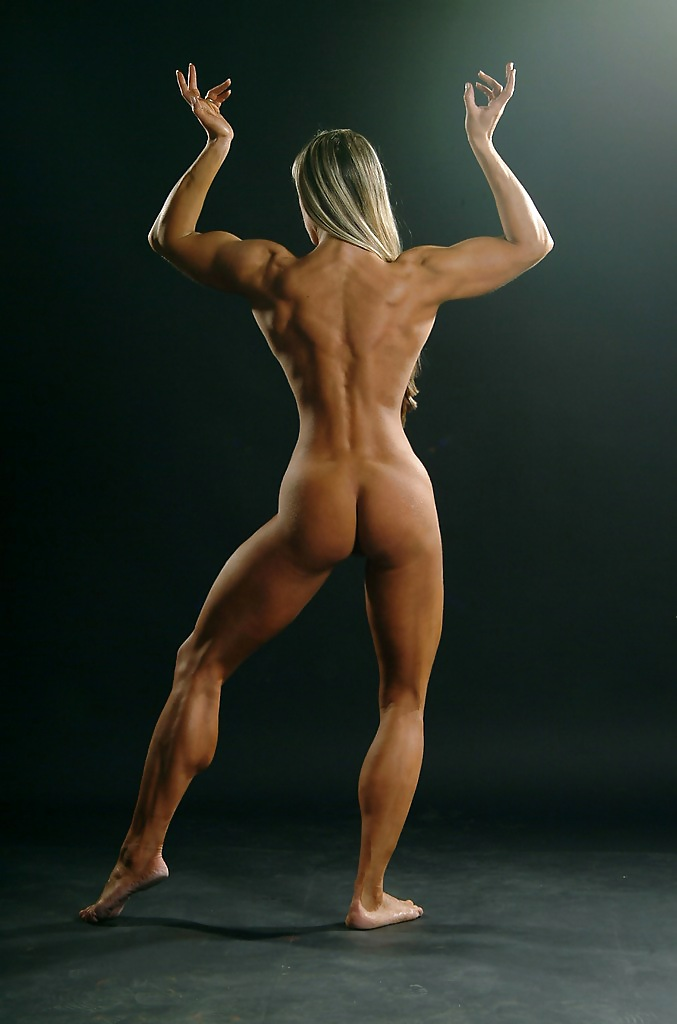 Black naked muscle female