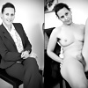 Hairy Dressed and Undressed Black and White (Camaster)