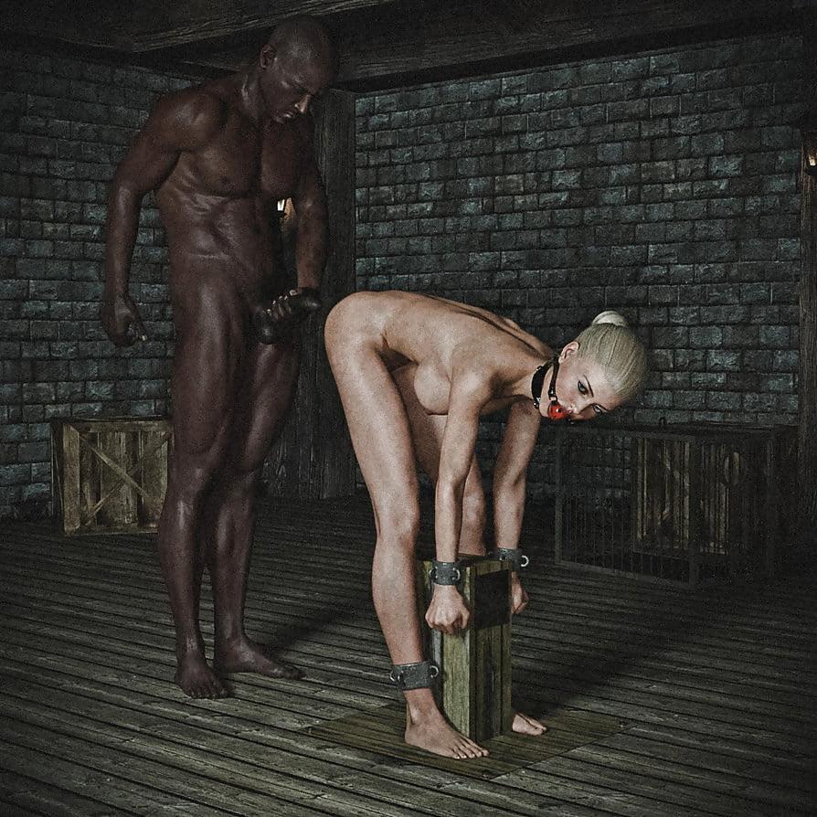 Male slave tortured by femdom girls