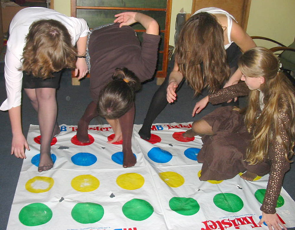 Hot year old girls playing twister #4