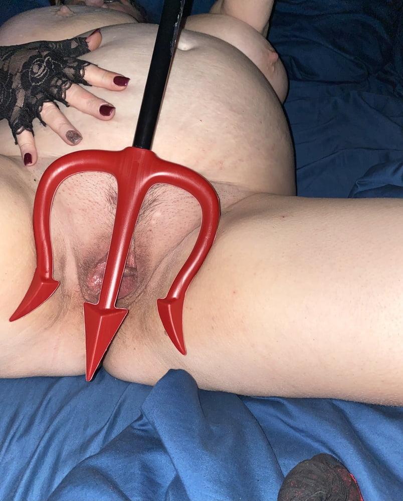 Horny BBW wife