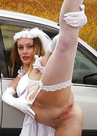 flexible bride showing outdoors