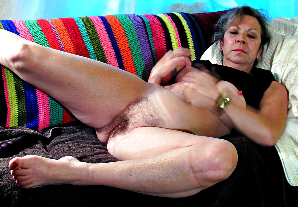 Anal hairy granny ass