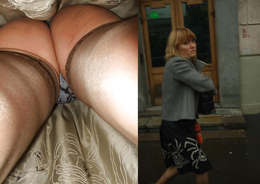 пежня засветы под юбками - 14