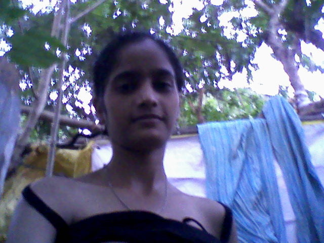 Indian village girl open bath
