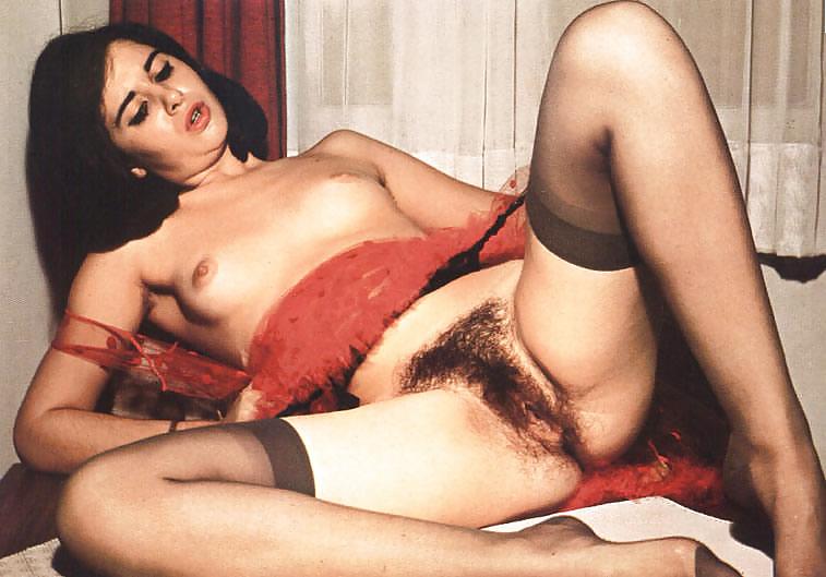 Classic hairy pussy retro porn — photo 10