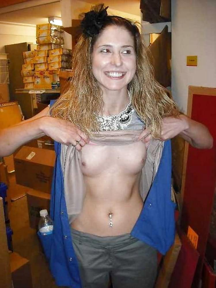 Cute Teen Flashing Little Tits For Cash In Public