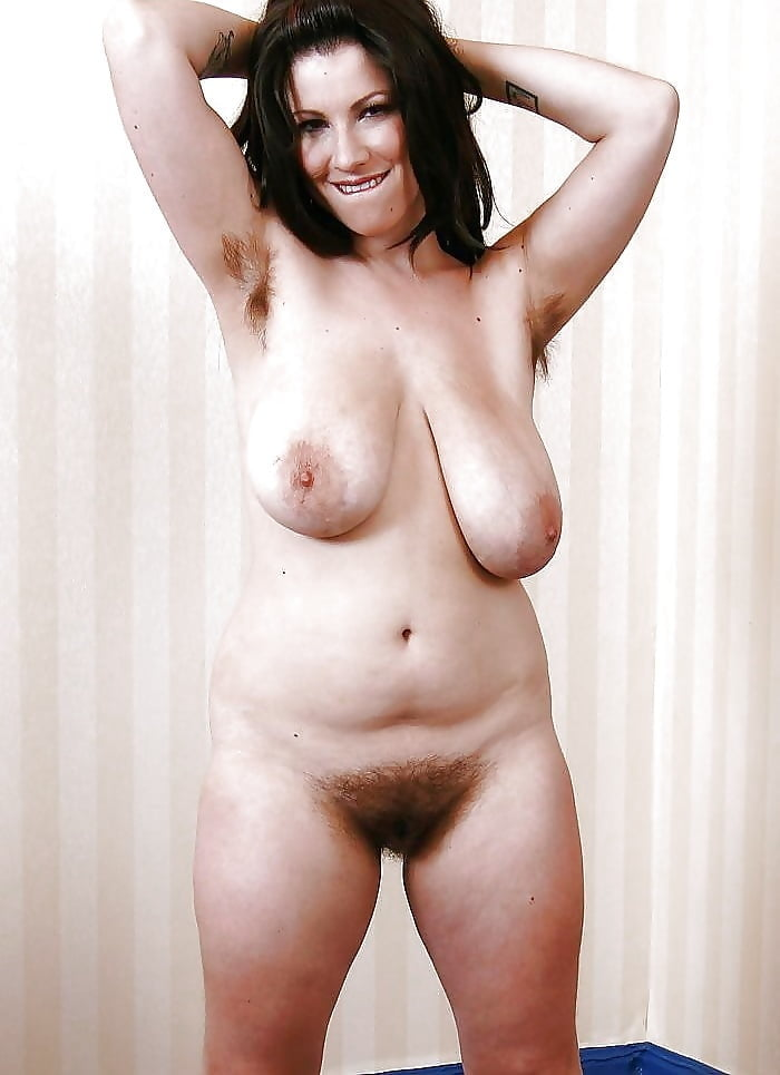 Mature brunette big tits hairy pussy