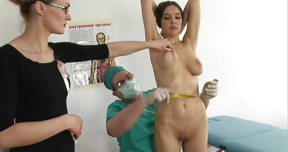 Picture title real medical examination of a fully naked girl