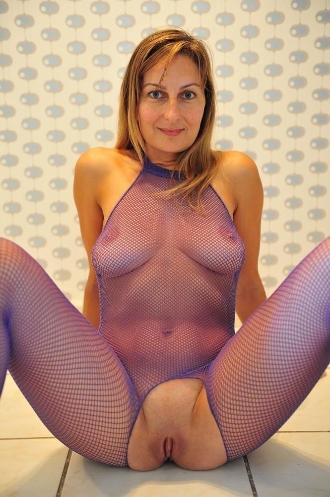 My girl in fishnet bodystockings