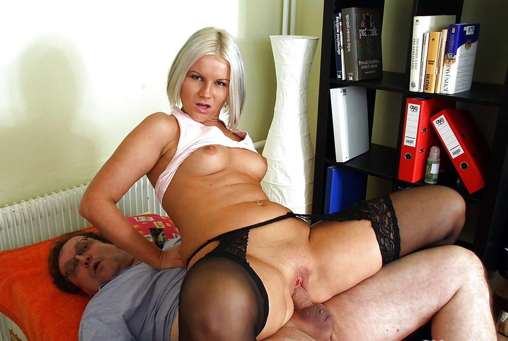 Senior fucks young porn pics