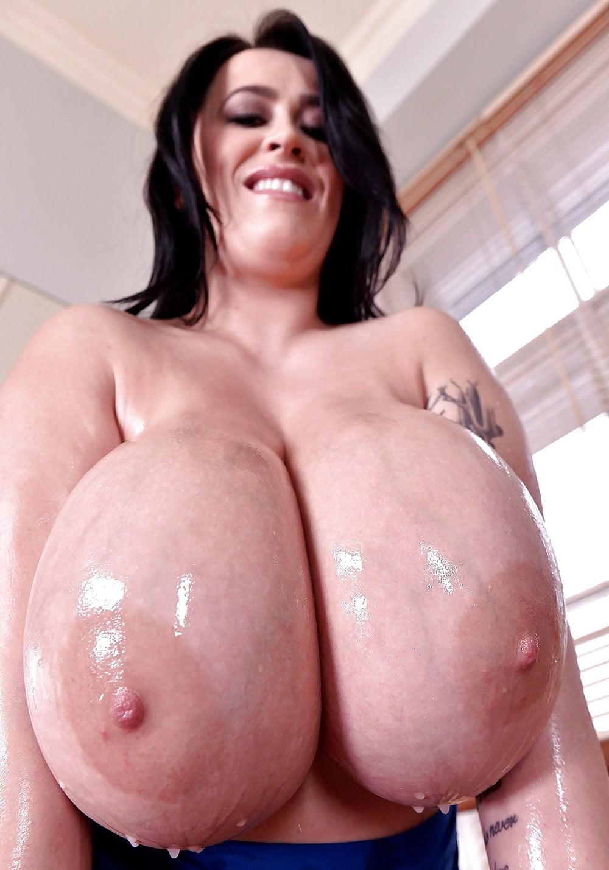 Oiled boobs big Oil