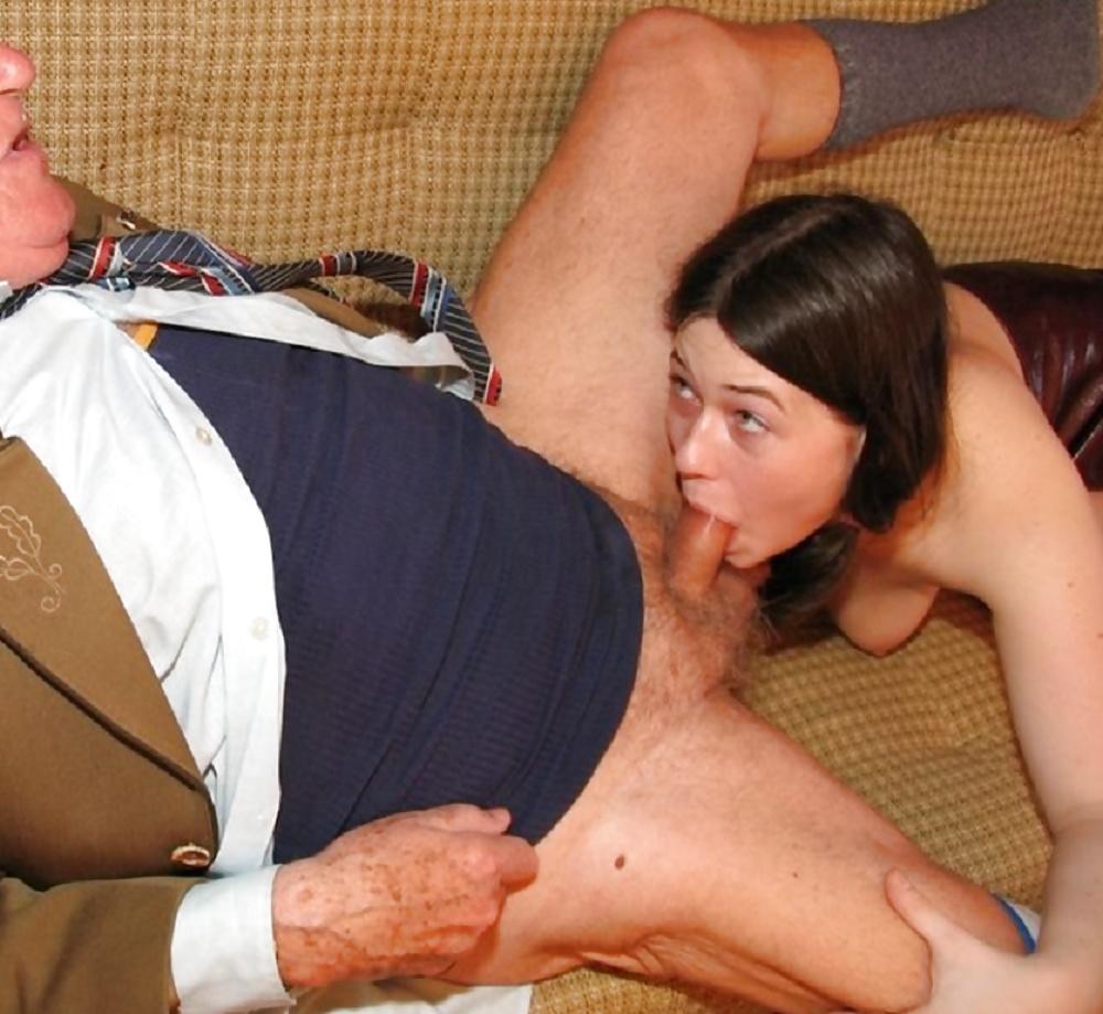 Petite latina michelle martinez gives blowjob to grandpa