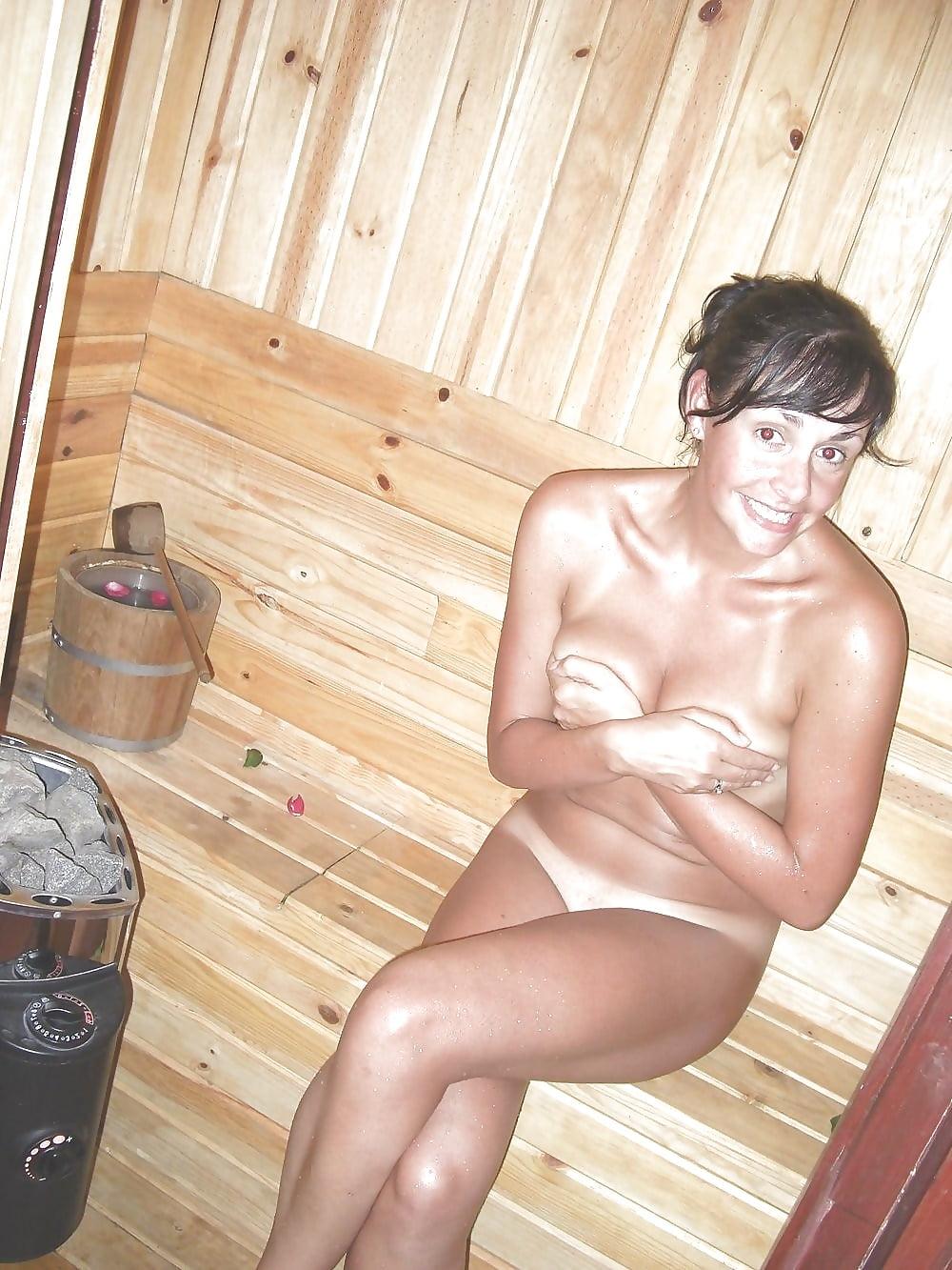 Nude spa sauna girl
