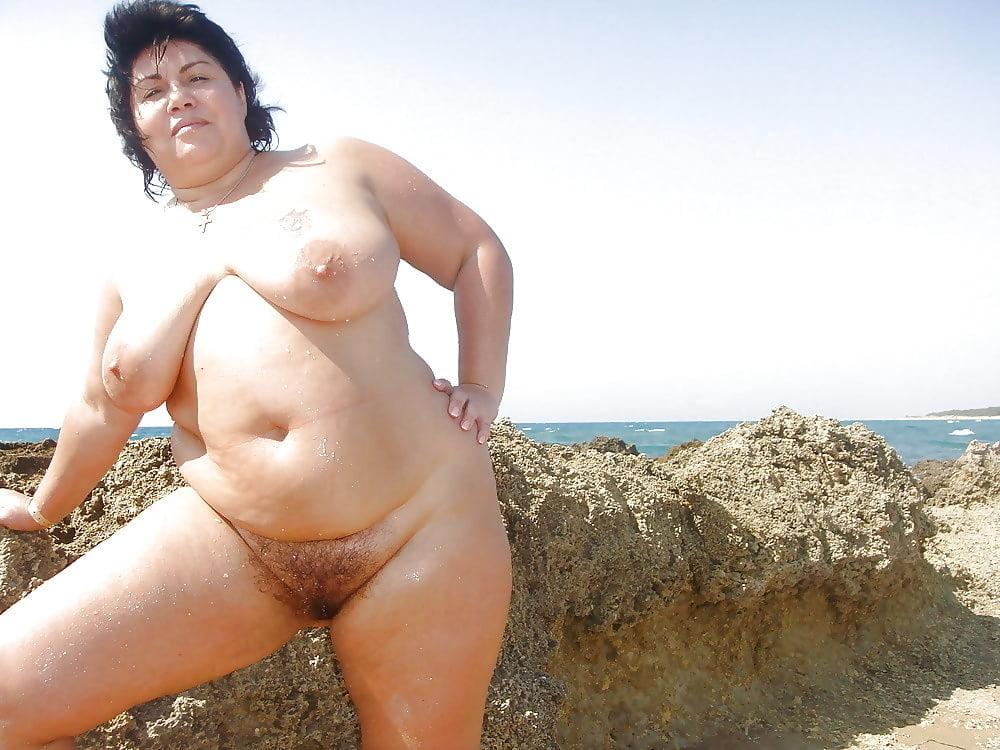 at beach Bbw the