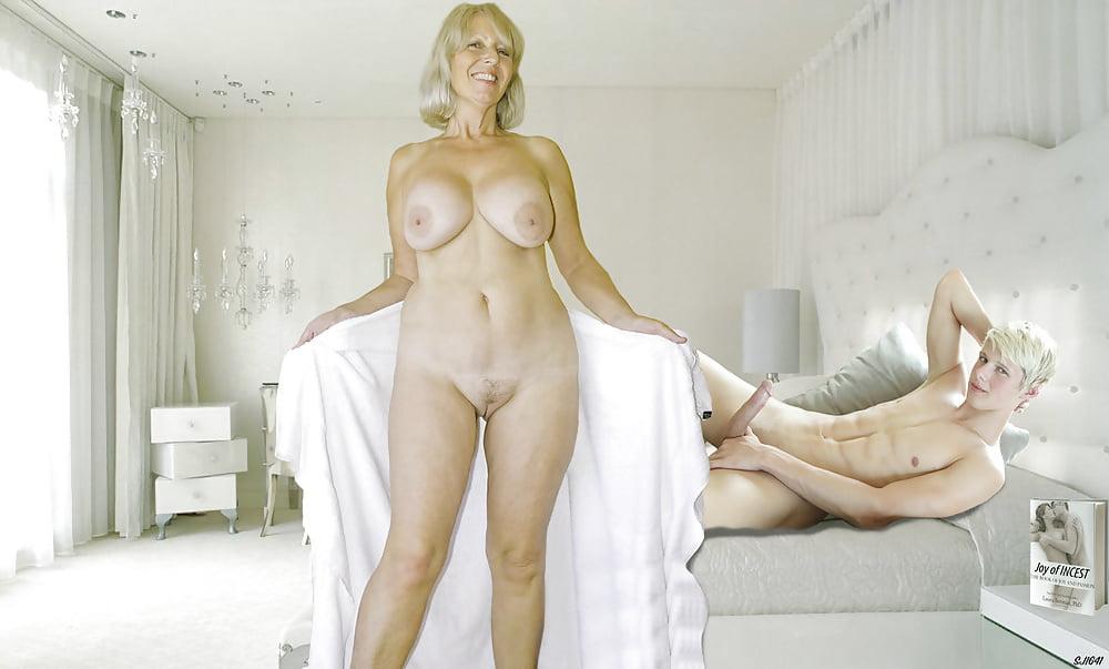 Happy Vital Mature Woman Goddess In The Desert Stock Photo