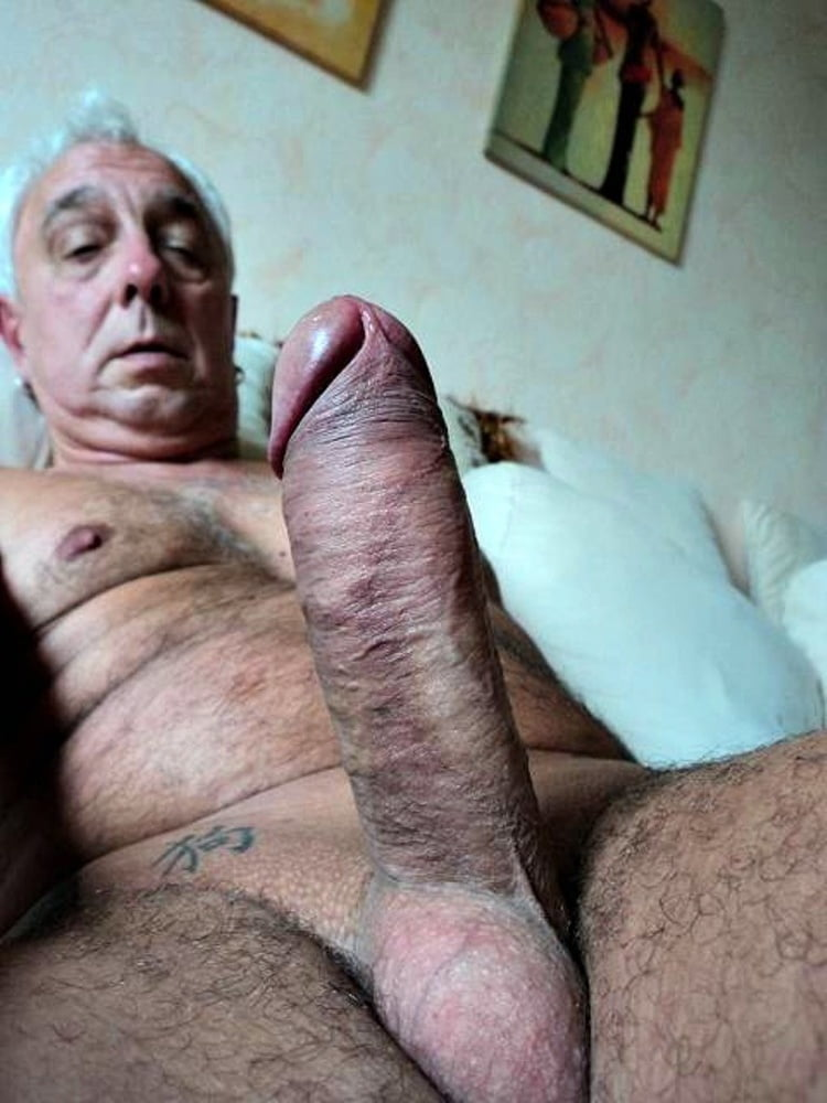 Horny Old Man Stroking And Jerking His Hard Cock Till He