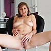 Milfs spreading legs to show bald pussy