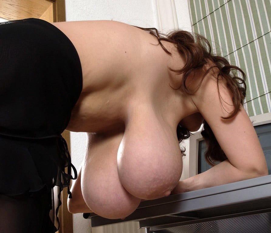 Hanging tits turning black naked