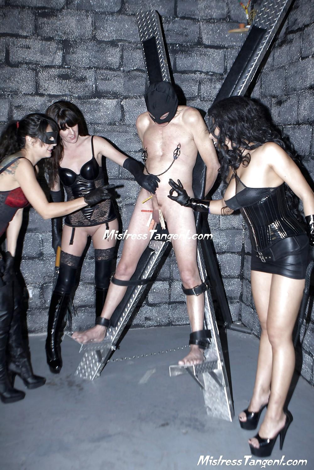 Triple Terror Femdom Strapon Gangbang Whipping - 15 Pics -2716