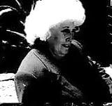 granny having fun , black and white photos