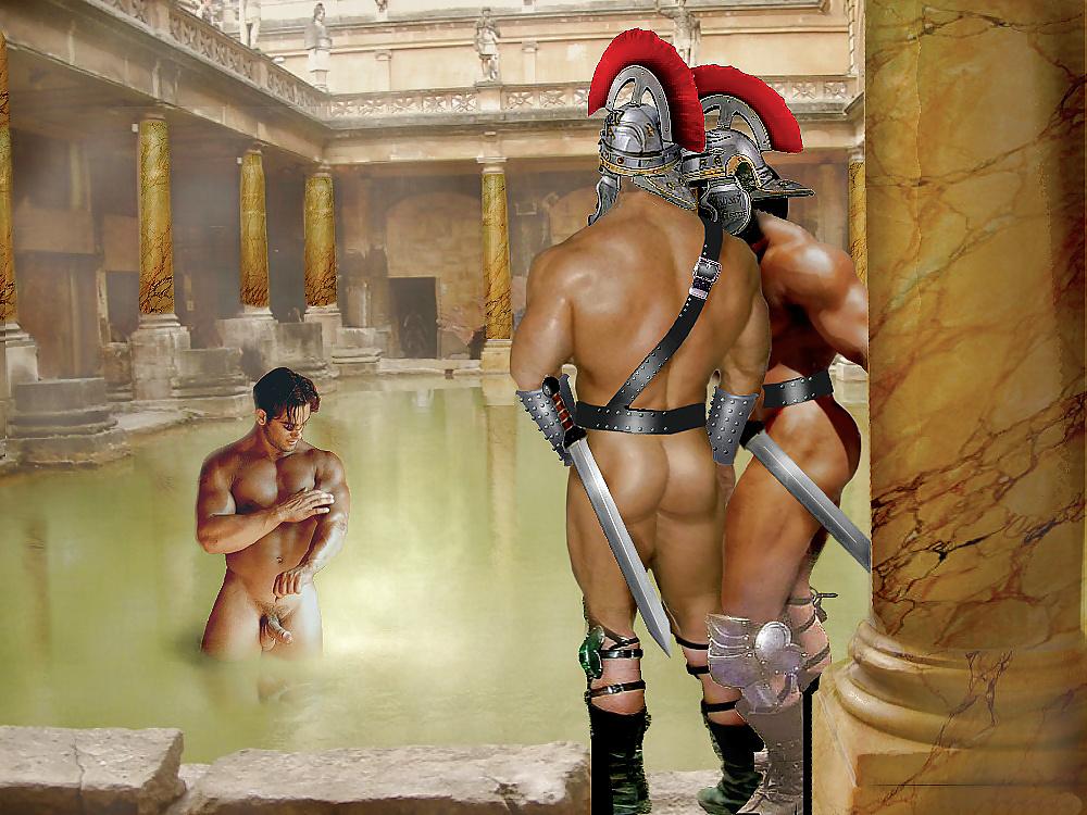 того, голые воины-спартанцы трахаются также как кончила