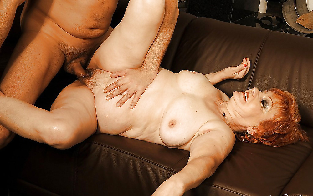 This Naughty American Redhead Grandma Loves Getting Fucked In Her Ass By A Toy Boy