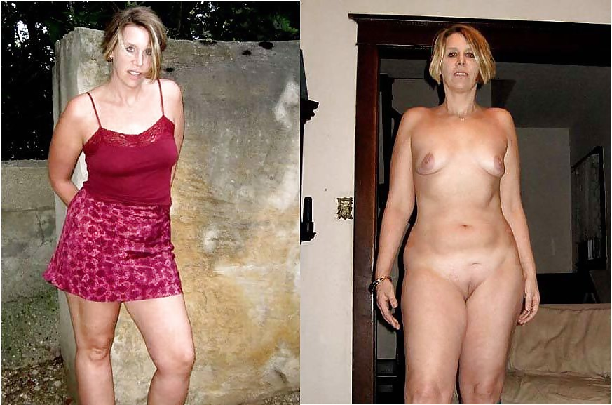 Clothed vs unclothed milf