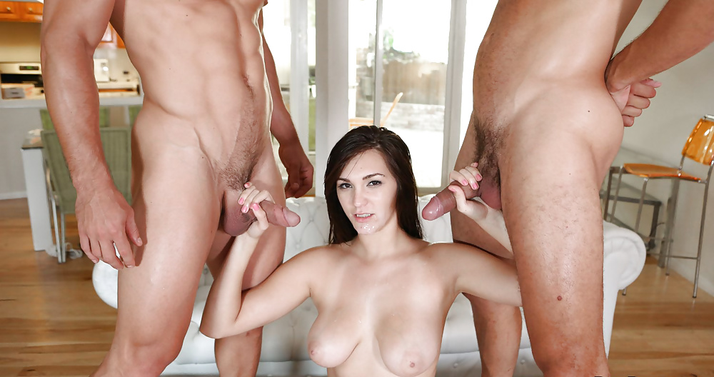 Hot Girl Wants To Fuck And Plays With Two Dicks
